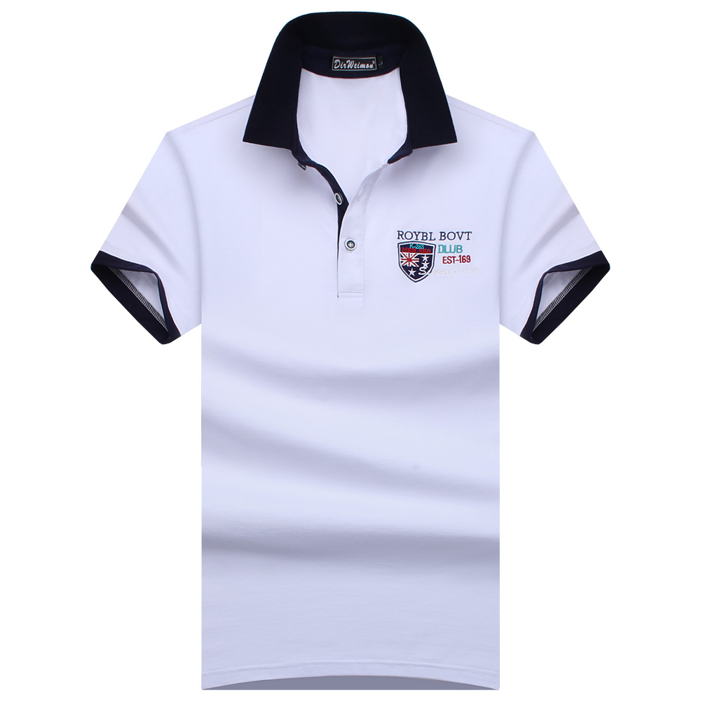 Plus Size S-8XL 2019 England style Men Polo Shirt Summer Short Sleeve Polos Shirt Mens Camisa Polo 95% Mercerized Cotton
