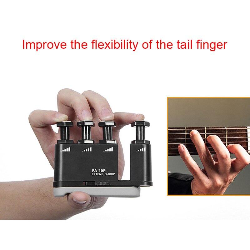 Flanger Extendable Strength Adjustable Finger Exerciser Train For Ukulele Guitar Bass Piano Violin Finger Strength Trainer