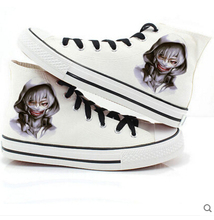 2017 spring Men women casual canvas shoes Japanese anime Tokyo Ghoul print shoes christmas gift sports shoes