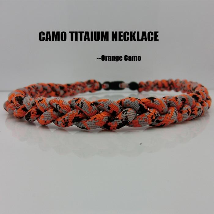 2017 new orange camo titanium sports necklace for baseball softball