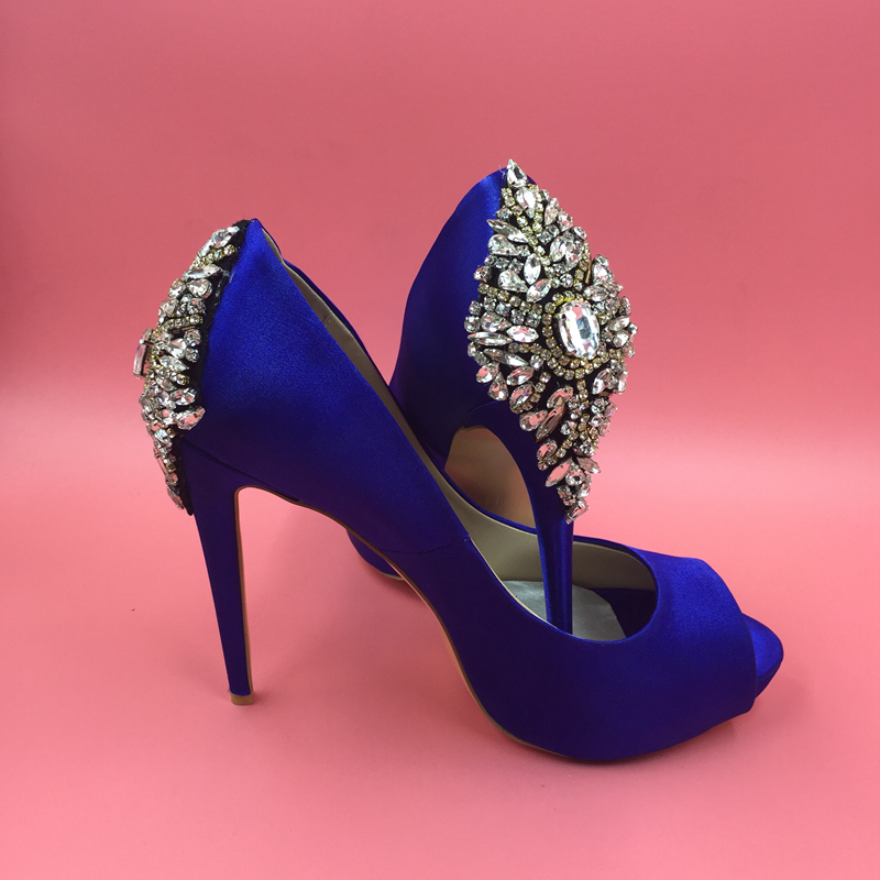 blue high heels wedding shoes aliexpress buy royal blue satin wedding shoes 1935