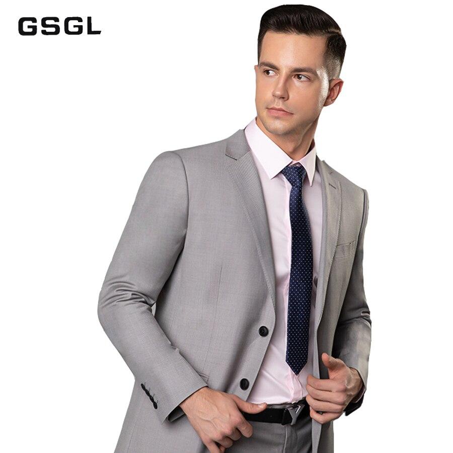 Men's Suit Slim Fit Two Button 2 Piece Suit Tuxedo Business Wedding Party Casual