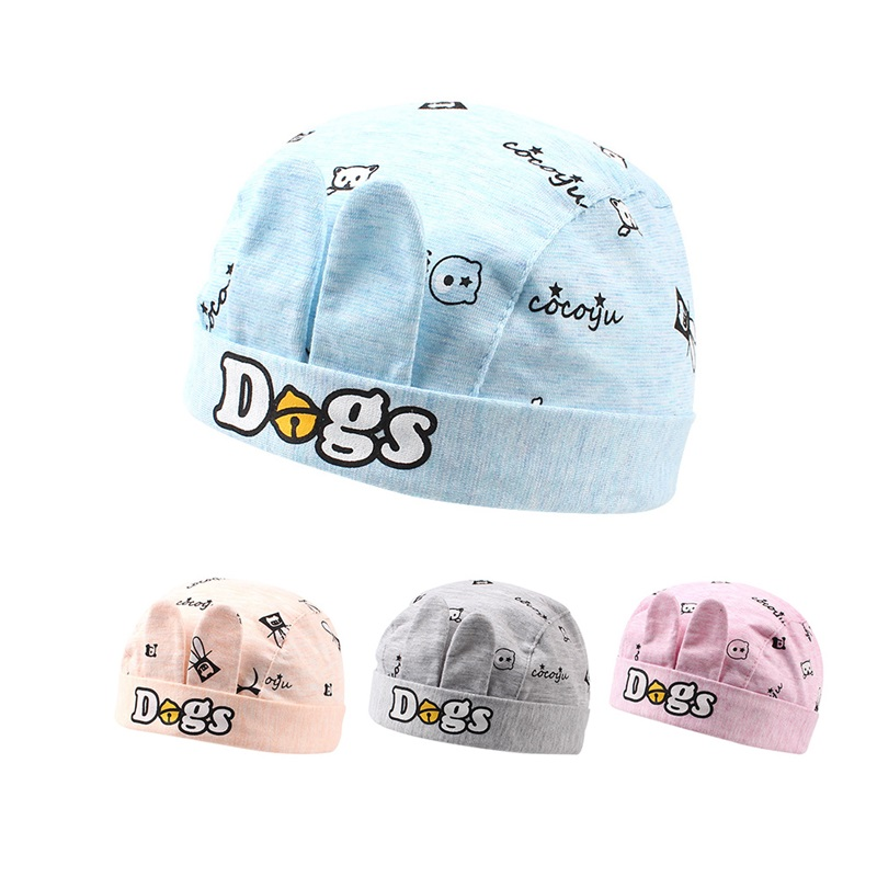 Fashion Letter Baby Pirate Hat For Girls Cartoon Star Infant Beanie Cotton Soft Baby Hat With Ear Spring 3-12M Baby Boy Clothing