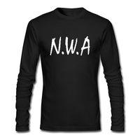 Men's Long Sleeve T Shirt Straight Outta Movie NWA Ice Cube Dr Dre Eazy E DJ Yella MC Ren Fashion Long Sleeve Top Tee Size S-3XL