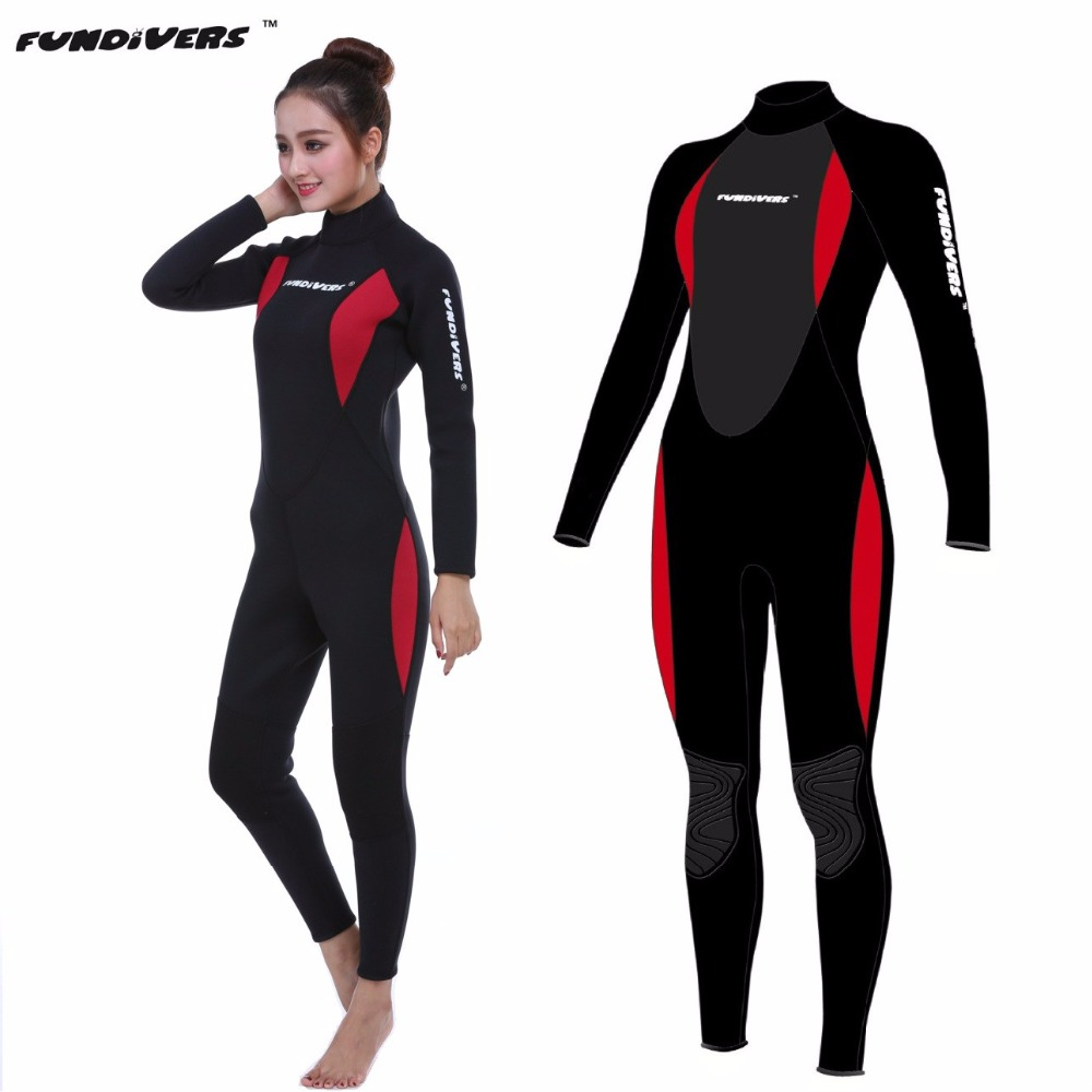 Neoprene 3mm Scuba Dive Women Wetsuit Long Sleeve Spearfishing Surfing Diving Swimming Jumpsuit Diving Suit SCR Diving wetsuit high quality cortex 3 5mm surf diving wet suits jacket men women surfing diving spearfishing wet suit long sleeve jacket wetsuit