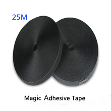 25M/Roll Magic Self-adhesive Velcro Nylon  Convenient Child buckle Two-sided Hook Strap