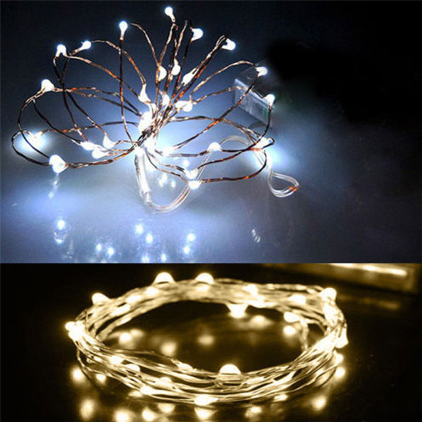 High Quality 2m/3m/5m String Fairy Light 20 /30 /50LED LED Battery Operated Xmas Lights Party ...