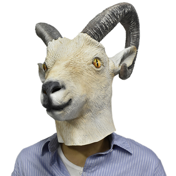 MASCARELLO mscara de ltex de cabra blanca mscara de carnero