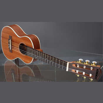 Acouway 28 inch Guitar Guitalele Guitarlele ukulele Sapele body 6 Strings 18 Frets Classical Knob with optional bag,tuner,capo