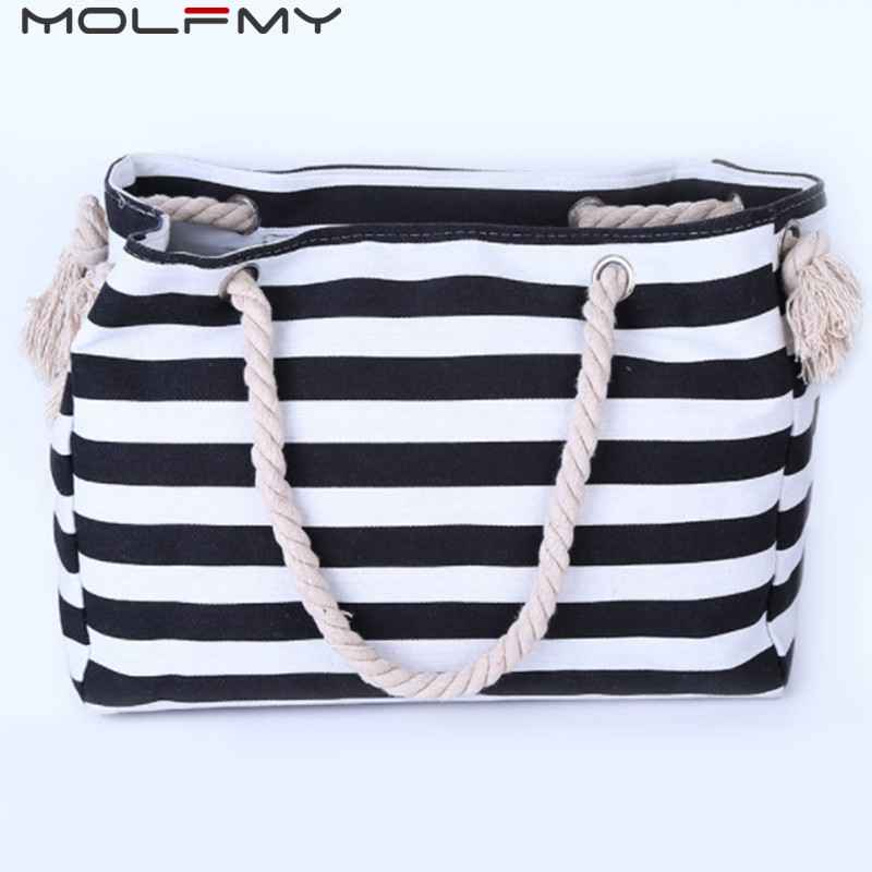 TLMY Fashion Wild Bag White Striped Casual Canvas Backpack Backpack Color : Black