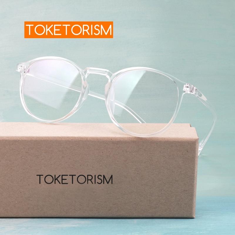 Toketorism Oval Vintage Glasses Frame Ultralight Eyewear Frames Clear Eyeglasses Without Degree 9832