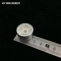 potentiometer knob 1 pcs 25x13mm Aluminum Alloy Potentiometer Knob White (5)