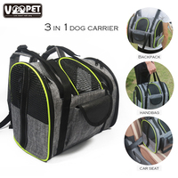 Collapsible Dog Carry Bag for Small Dog Cats Puppy Pets up to 13+lbs Dog Travel Carrier Backpack Pet Carry Handbag Car Seat Bag