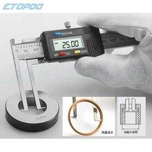 Внутренний цифровой 10-150 мм 0,01 мм электронный цифровой Внутренний штангенциркуль для измерения пазов с краем ножа микрометр цифровой штангенциркуль