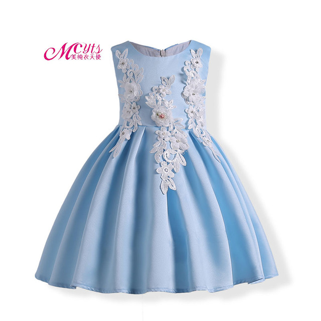 e7980329f90 Retail New Style Summer Baby Girl Sleeveless Embroidery Dress for Wedding  Girls Party Dress 3 4 5 6 7 8 9 10 Years Kids Clothes