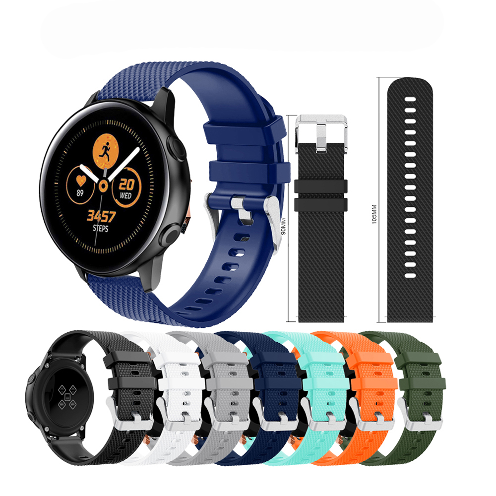 Soft Silicone Watch Strap for Samsung Galaxy Active Band 42mm Classic S2 Sport 20mm Outdoor Watchband