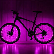 Waterproof 20 LED Bike Bicycle MTB Wheel Tire Spoke Signal Warning Lights Strip