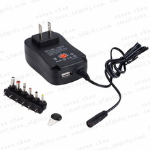 3V 4.5V 5V 6V 7.5V 9V 12V Universal AC/DC Charger 30w Laptop, Tablet PC, Camera, Routers, Switching Power US/EU Plug Wholesale