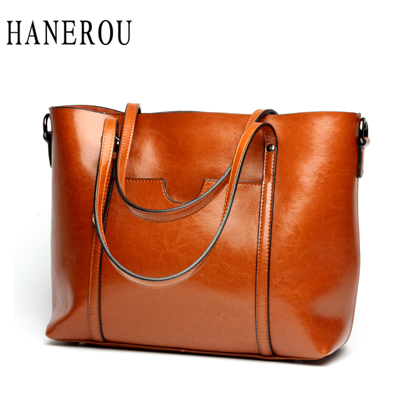 HANEROU Luxury Genuine Leather Shoulder bags Women Designer 2018 Fashion Cow Leather Purses And Handbags Women Messenger Bag zooler brand genuine leather women purses and handbags luxury handbags women bags designer fashion style lady shoulder bag b163