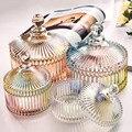 Цветное хранение кристаллов  креативное прозрачное стекло для конфет и чая  баночки для хранения  практичное покрытие  Снэк  свежие банки  к...