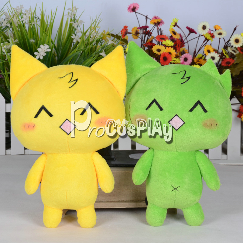 Mogeko Castle Mogeko Cat Cosplay Plush Doll Yellow / Green For Choose
