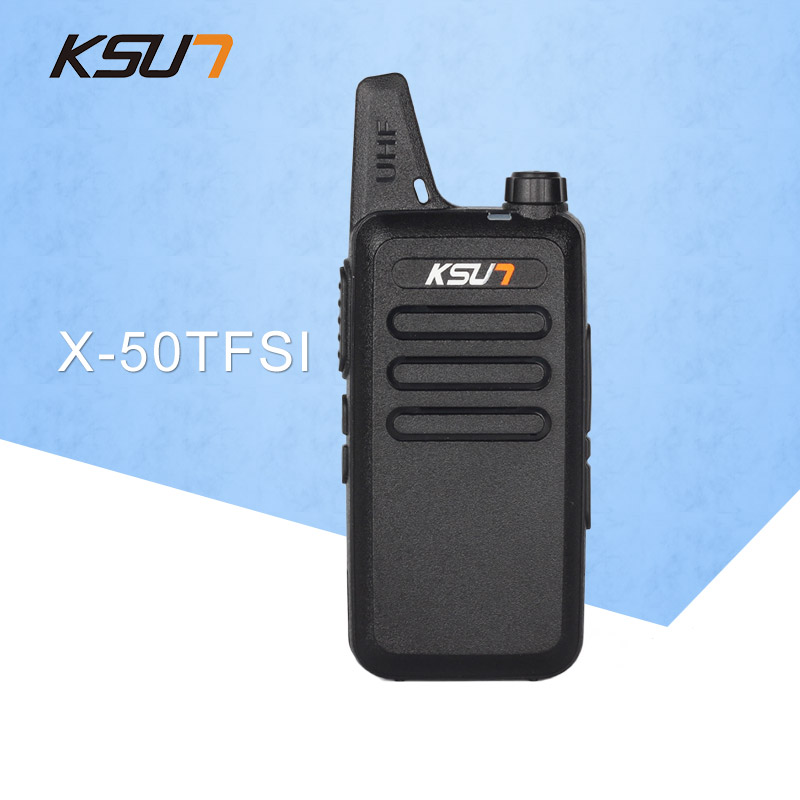 Gratis Verzending walkie talkie KSUN X-50TFSI Ham Two Way Radio walkie talkie Dual-Band Transceiver BUXUN X-50 (Zwart)