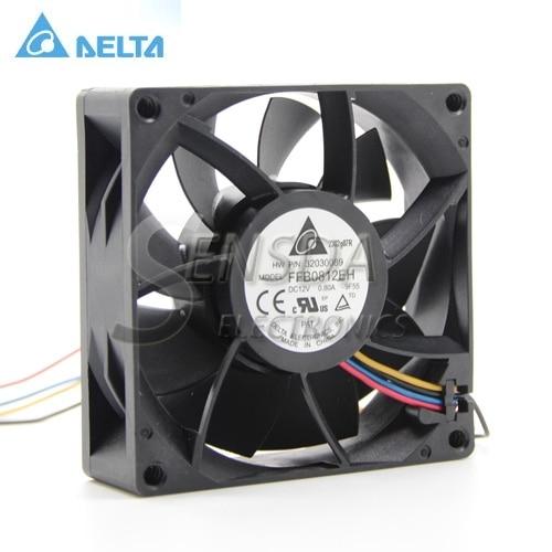 for delta FFB0812EH 8025 80mm 8CM DC 12V 0.80A violence PWM Server Inverter Cooling fan