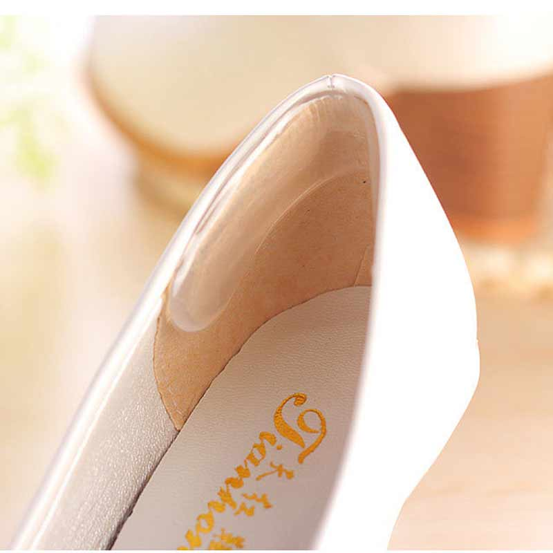 1pair Silicone Gel Insoles Cushioning Relieve Heel Pain Heel Pad Transparent Heel Pad Stick Foot Massage Inserts Health Care
