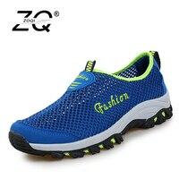 ZOCN Unisex Mesh Casual Shoes For Men Beach Shoes Breathable Summer Shoes Flats Mesh Sandals Zapatos
