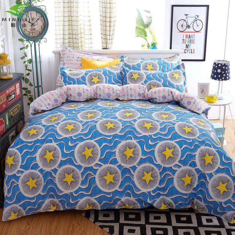 Phantom Reactive Print Bedding Sets Double-sided Pattern Bedding Set Single Twin Full Queen King Bedding for Kids Adult Bedroom