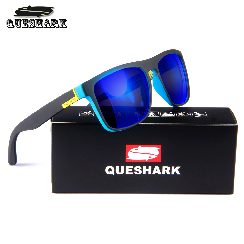 QUESHARK Cycling Polarized Sunglasses Printing TR90 Frame Bike Goggles Sports Camping Hiking Fishing Glasses Bicycle Eyewear queshark polarized cycling sunglasses mountain road bike glasses riding bicycle goggles hiking sports eyewear with myopia frame
