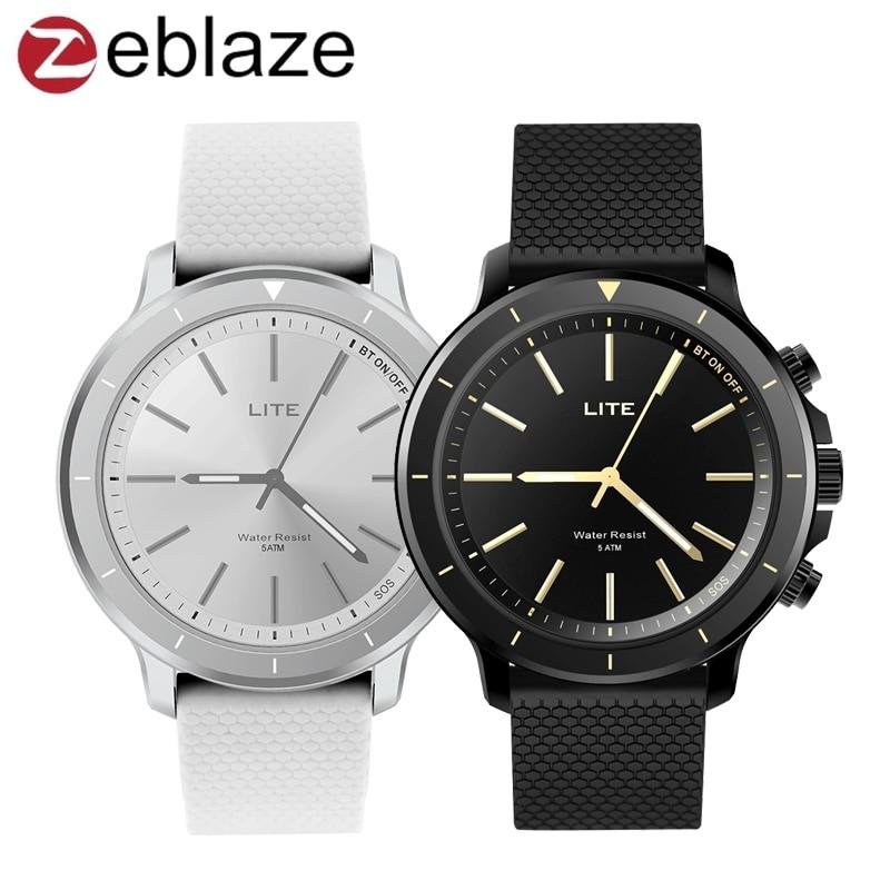 Zeblaze VIBE LITE Smart Quartz Montre 5ATM Étanche Bluetooth Fréquence Cardiaque Fitness Tracker SOS Smartwatch Montre-Bracelet VS Montre 9 X