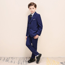 цена Weddings Kids Blazer Suit For Boy Costume Enfant Garcon Mariage Jogging Garcon Blazer Boys Formal Wedding Suit H459 онлайн в 2017 году
