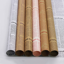 Classic Style Old English Newspaper Kraft Paper for Photography Backdrops Food Fruit Flowers Photo Shooting Background Ornament