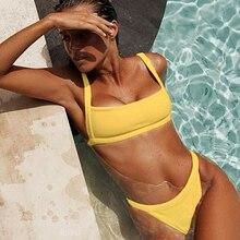 high waisted swimwear women bathing suits mini bikinis womens swim wear yellow bikini high cut bikini maillot de bain push up
