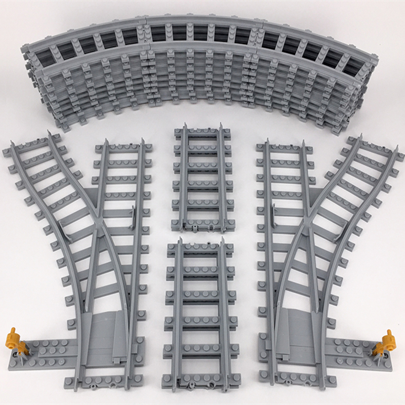 KAZI Train Track Building Bricks Plastic Rail Track for Train Straight & Curved & Furcal & Soft Educational Toys train brisbane