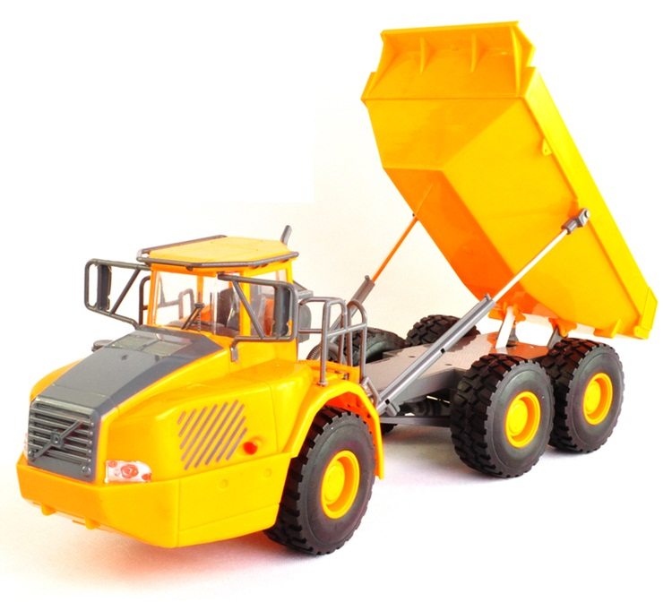 RC truck Big Dumper Truck Engineering Vehicles Dumper Lorry Loaded Sand Car with light Voice Toy For Kids