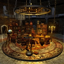 Laeacco Magic Prophet Witch Library Interior Scene Baby Photography Backgrounds Custom Photographic Backdrops For Photo Studio