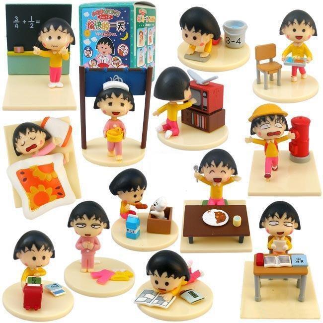 Anime Cartoon Chibi Maruko Chan Figures Sakura Momoko