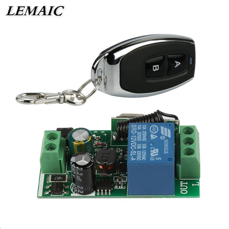 KKS05 Universal Wireless 433Mhz Remote Control Switch AC 85V 110V 220V 1CH Relay Receiver Module & RF 433 Mhz Remote Controls ac 220v 1ch rf wireless remote switch wireless light lamp led switch 1 mini receiver 4 transmitters on off 315mhz or 433mhz