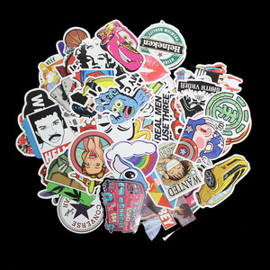 Special Price 100 Pcs 7 Styles Not Repeating Waterproof Stickers For Notebook Laptop Suitcase Bike Fridge Sliding Plate Car Styling Sticker — iroyaaetetn
