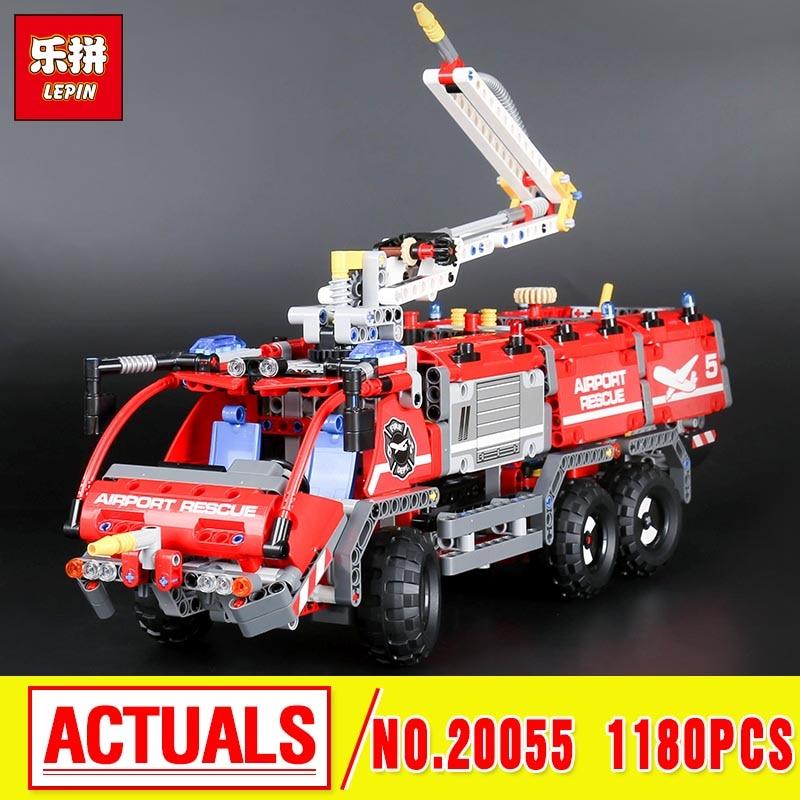 Lepin 20055 Genuine Technic Mechanical  The Rescue Vehicle Set Children Educational Building Blocks Bricks 42068 the rescue