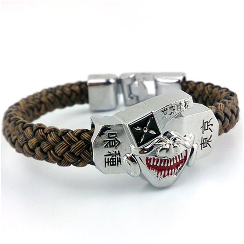 Hot Anime Tokyo Ghoul Bracelet Leather Strap Bracelet Bangle Wristband Jewelry Cosplay Prop Birthday Gift
