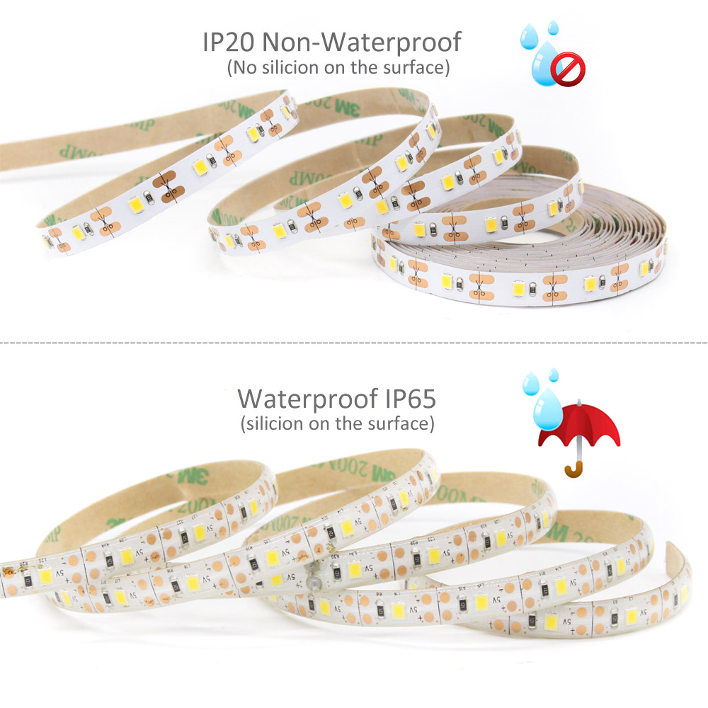 USB LED Strip Waterproof SMD 2835 5V Tria LED USB TV Light 1M 2M 3M 4M 5M LED Tape Stripe with Switch Lighting for TV Ambilight in LED Strips from Lights Lighting
