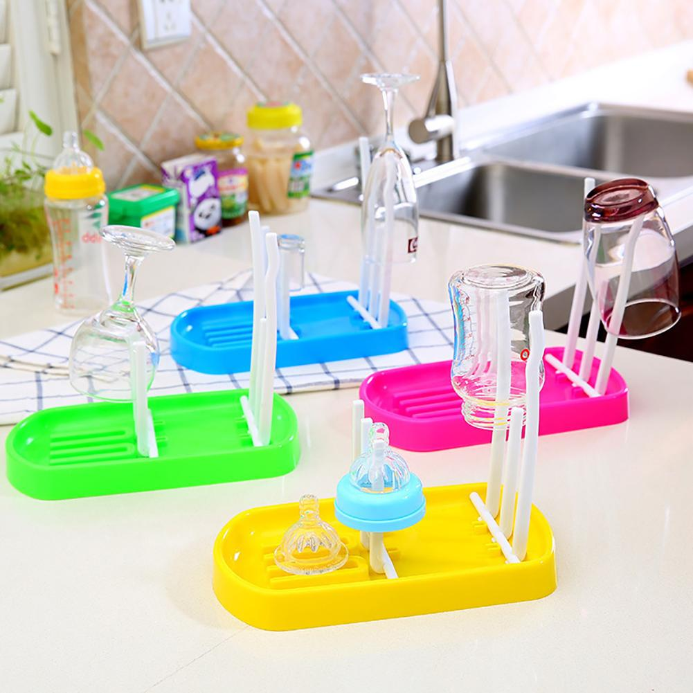 Baby Feeding Glass Bottle Drying Rack Cleaning Dryer Drainer Storage Holder For Baby Care