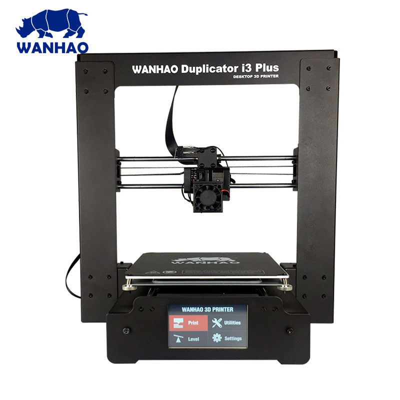 Wanhao Duplicator I3 PLUS Mark II touching LCD screen 3D color Printer Machine PLA /ABS Filament. 2018 new upgrade wanhao i3 plus 2 0 wanhao i3 plus mk2 reprap developer prusa wanhao 3d printer with touch screen auto level