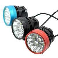 אופני אור 18000 לום 9 XM-L T6 LED ראש פתוח אופניים אור רכיבה על אופניים אור ראש מנורת לפיד + 18650 סוללה חבילה + סרט