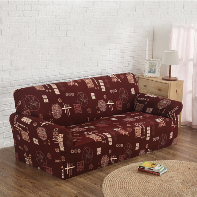 Floral Printed Sofa Cover Cloth Art Spandex Stretch Slipcover  Slip Resistant Elastic Sofa Towel Corner