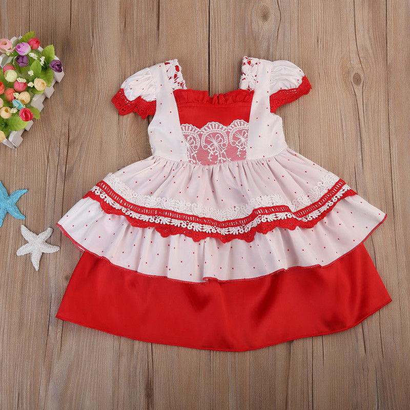 Floral Baby Girls Christmas Dress Princess Party Wedding Pageant Ball Gown Kids Short Sleeve Dresses toddler kids baby girls princess dress party pageant wedding dresses with waistband
