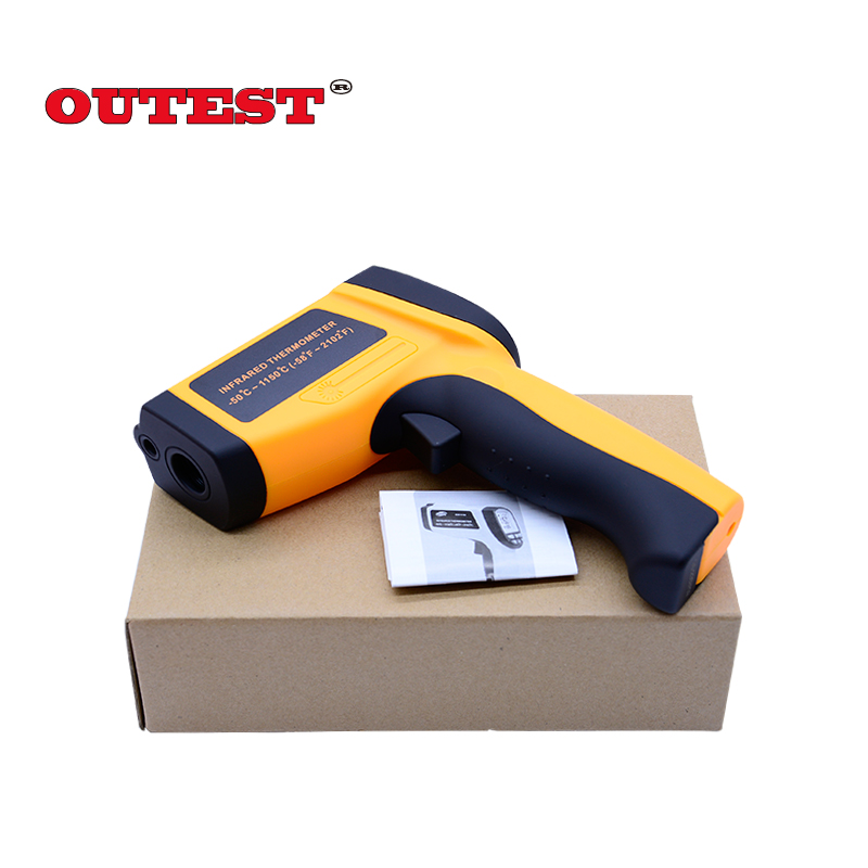 Digital Infrared Thermometer GM1150 Non-Contact Laser temperature tester  LCD Backlight Display -50~1150 Degree стоимость